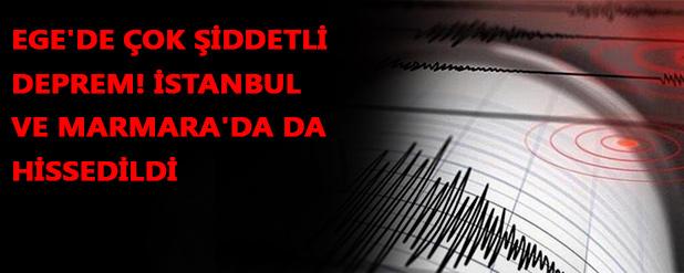 Ege Denizi'nde korkutan deprem! 6.6 büyüklüğünde