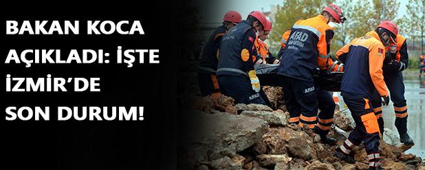 Bakan Koca açıkladı: İzmir'de son durum