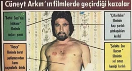 Cüneyt Arkın, Film kazalarını yayınladı!