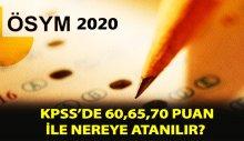 Önlisans KPSS 65 puanla nereye girilir 2020?