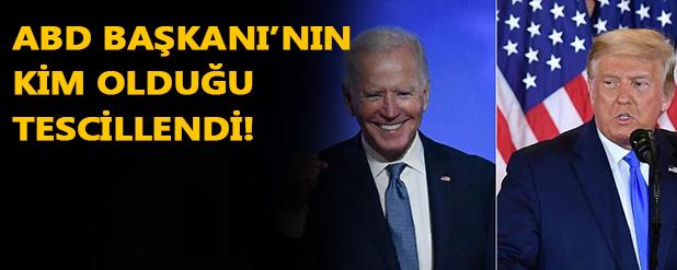 Biden Amerika'nın 46. Başkanı oldu